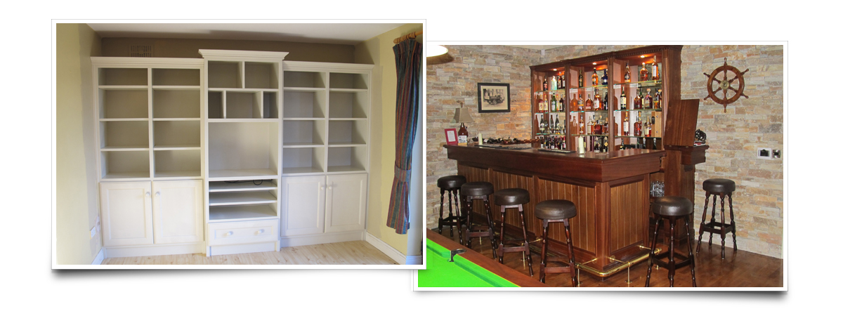 Joe has made furniture in a range of styles and materials including totally solid wood free-standing furniture.